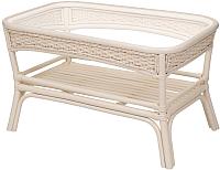Кофейный столик садовый Мир Ротанга Алекса  (белый) -