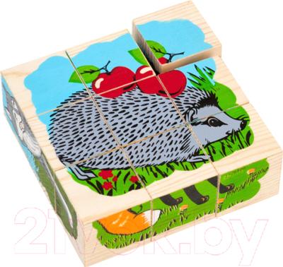 Развивающая игрушка Томик Кубики. Животные леса / 4444-4