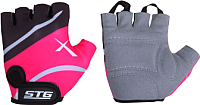 Перчатки велосипедные STG Х61872-С10 (S, черный/розовый) -
