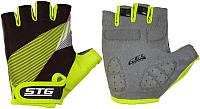Перчатки велосипедные STG Х87911-М (M, черный/салатовый) -