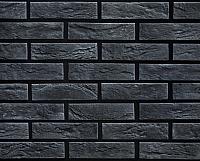 Декоративный камень РокСтоун Кирпич декоративный 1619П (черный пепел) -
