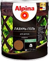 Защитно-декоративный состав Alpina Лазурь-гель (2.5л, орех) -