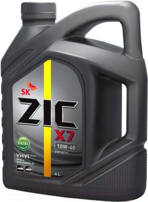 Моторное масло ZIC X7 Diesel 10W40 / 162607 (4л)