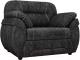Кресло мягкое Лига Диванов Бруклин 149 / 60766 (велюр, черный) -