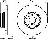 Тормозной диск Bosch 0986478623 -