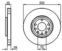 Тормозной диск Bosch 0986479076 -