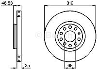 Тормозной диск Bosch 0986479057 -