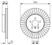 Тормозной диск Bosch 0986479772 -