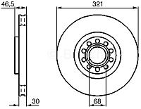 Тормозной диск Bosch 0986478985 -