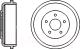 Тормозной барабан Bosch 0986477129 -