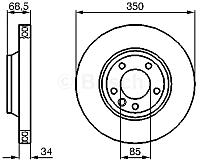 Тормозной диск Bosch 0986479249 -
