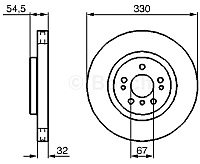 Тормозной диск Bosch 0986479269 -