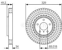 Тормозной диск Bosch 0986479T32 -