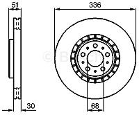 Тормозной диск Bosch 0986479202 -