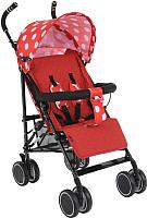 Детская прогулочная коляска Bambola Pallino / НР-313 (красный/белый) -