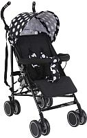 Детская прогулочная коляска Bambola Pallino / НР-313 (черный/белый) -