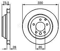 Тормозной диск Bosch 0986479095 -