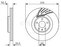 Тормозной диск Bosch 0986479590 -
