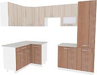 Готовая кухня ВерсоМебель Эко-6 1.4x2.7 левая (ясень шимо светлый/ясень шимо темный) -
