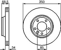 Тормозной диск Bosch 0986479251 -