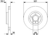 Тормозной диск Bosch 0986479300 -