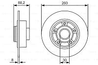 Тормозной диск Bosch 0986479761 -