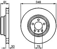 Тормозной диск Bosch 0986479003 -