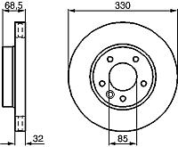 Тормозной диск Bosch 0986479248 -