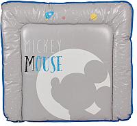 Пеленальный матрас Polini Kids Disney Baby. Микки Маус (серый) -
