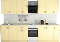 Готовая кухня Хоум Лайн Кристалл Лайт 2.5 (ваниль глянец) -