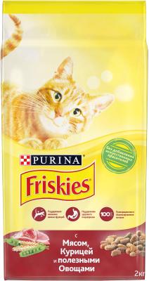 Корм для кошек Friskies С мясом, курицей и овощами (2кг)