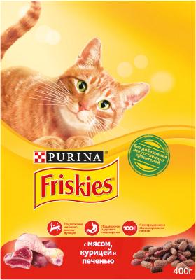 Корм для кошек Friskies С мясом, курицей и печенью (2кг)