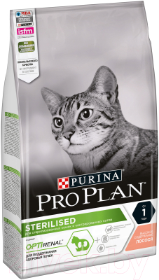 Корм для кошек Pro Plan Sterilised с лососем (1.5кг)