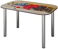 Обеденный стол Senira P-001-02/01-7809 (хром) -