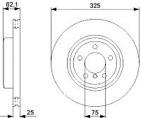 Тормозной диск Bosch 0986479348 -