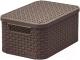 Корзина Curver Style Box S V2 03617-210-00 / 205839 (коричневый) -