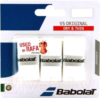 Овергрип Babolat VS Grip Original / 653040-101 (3шт, белый)