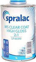 Лак автомобильный Spralac MS 2:1 / 6102.4699.L01.01 (1л, глянцевый бесцветный) -