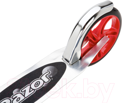 Самокат Razor A5 Lux (серебристый/красный)