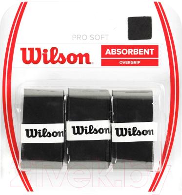 Овергрип Wilson Pro Soft Overgrip / WRZ4040BK (3шт, черный)