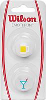 Виброгаситель для теннисной ракетки Wilson Emoti-Fun Beer / WRZ538300 (2шт, белый) -
