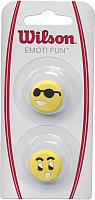 Виброгаситель для теннисной ракетки Wilson Emoti-Fun Sun Glasses / WRZ53850 (2шт, желтый) -