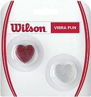 Виброгаситель для теннисной ракетки Wilson Vibra Fun / WRZ537100 (2шт, красный/серебристый) -