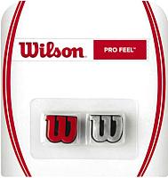Виброгаситель для теннисной ракетки Wilson ProFeel / WRZ537600 (2шт, красный/серебристый) -