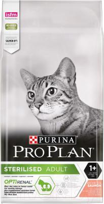Корм для кошек Pro Plan Sterilised OptiRenal Adult с лососем (10кг)