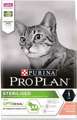 Корм для кошек Pro Plan Sterilised с лососем (3кг)