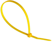 Стяжка для кабеля Fortisflex КСС 52185 (100шт, желтый) -