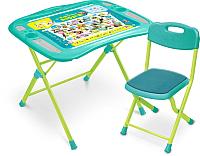 Комплект мебели с детским столом Ника NKP1/4 Пушистая азбука (зеленый) -