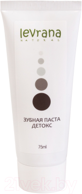 Зубная паста Levrana Детокс черная (75мл)