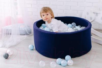 Игровой сухой бассейн Romana Airpool ДМФ-МК-02.53.01 (темно-синий, 150 шариков ассорти с серым)